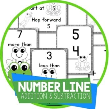 frog theme number line 0-20 addition and subtraction Featured Image