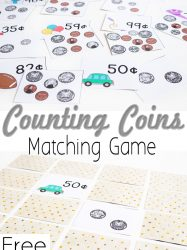 Free Printable Money Matching Game: Counting Coins