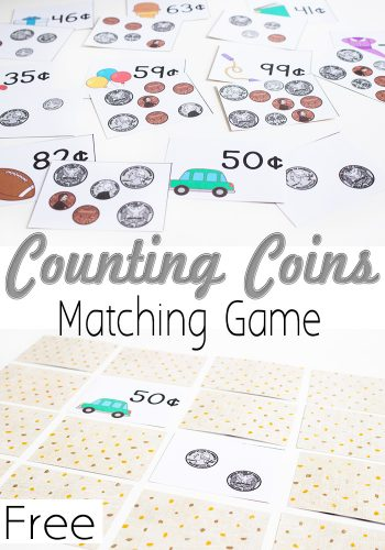 Practice Counting Coins with this fun money matching game. Low-prep and lots of fun!