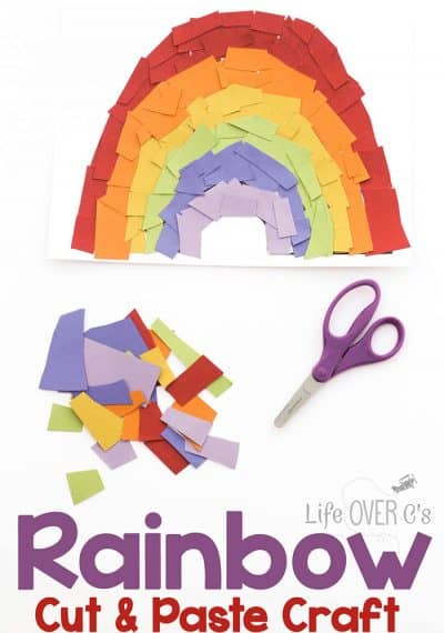 Rainbow Cut and Paste Craft