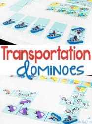 DIY Transportation Dominoes for Matching