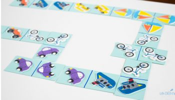 "These DIY transportation dominoes for matching are perfect for a ""new"" game without going to the store."