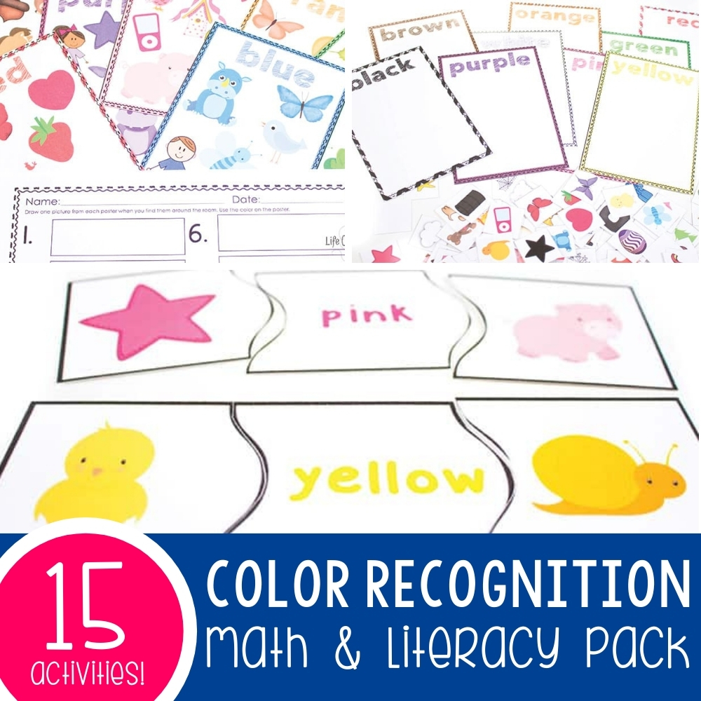 Color Recognition Math & Literacy Pack: 15 Activities!