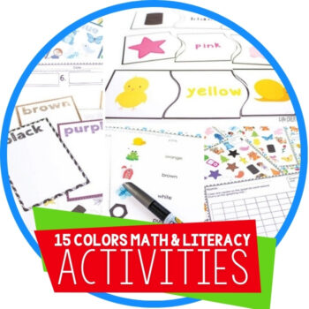 Color Recognition Math & Literacy Pack_ 15 Activities! Featured Image
