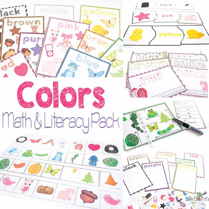 Color Math & Literacy Pack