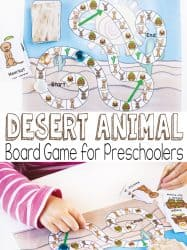 Desert Animal Game for Preschoolers