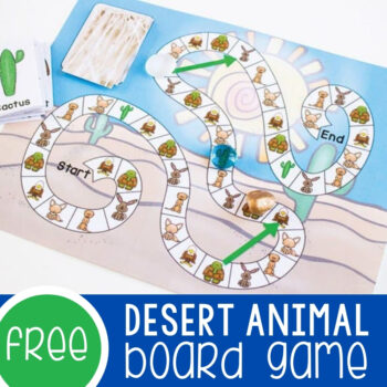 Desert Animal Game for Preschoolers Featured Square Image