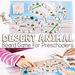 Match pictures of desert animals with this free printable desert animal game for preschooler. Kids will love playing with fennec foxes, eagles and meerkats!