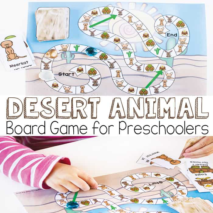 Desert Animal Board Game