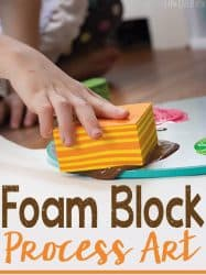 Foam Block Process Art Exploration