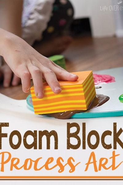 Foam Block Process Art Exploration