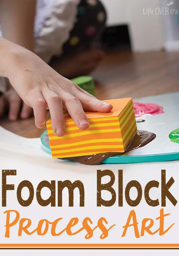 Foam block process art painting
