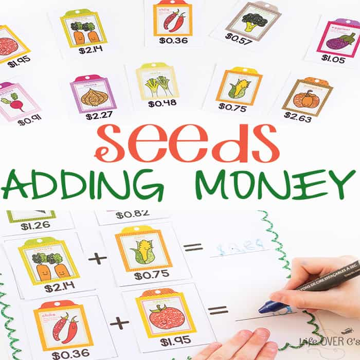 Garden Math Adding Money Free Printable