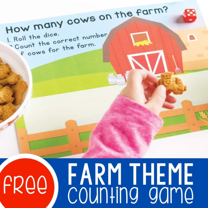 How Many Cows on the Farm Counting Game Featured Square Image