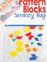 Super Easy Pattern Block Sensory Bag