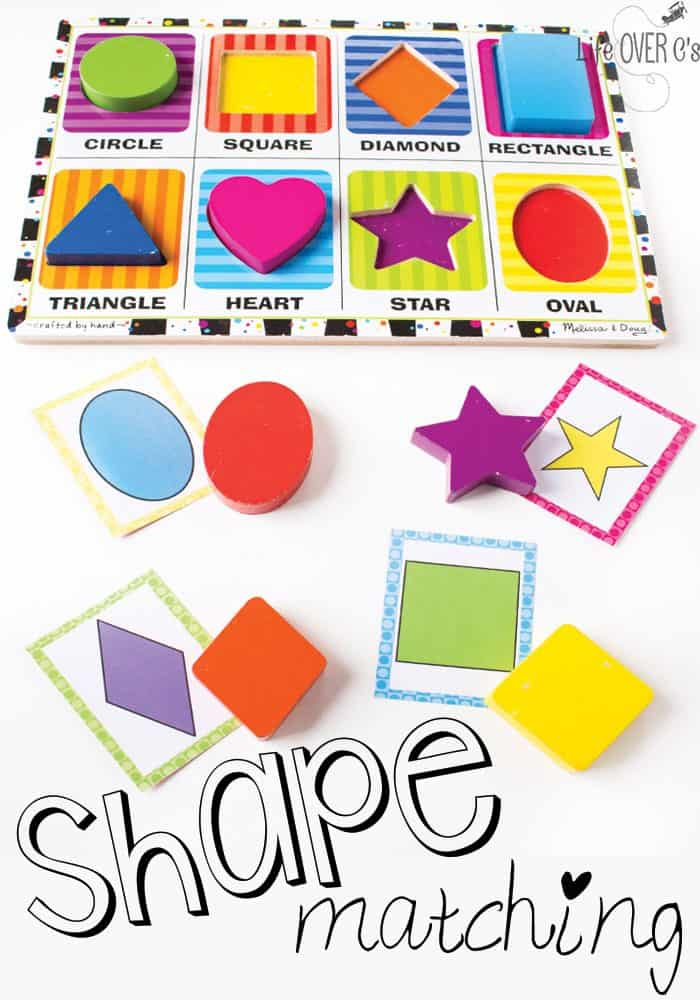 Puzzle Shape Matching Cards