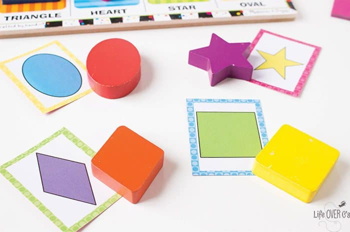 Learn about shapes with our favorite puzzle and these free printable shape matching puzzle cards. Match them to the shape puzzle pieces or play a fun memory game!