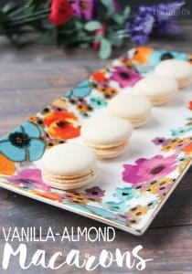 These alomond-coconut macarons (not to be confused with a coconut macaroon!) are absolutely phenomenal! It's so hard to just eat one...or two!