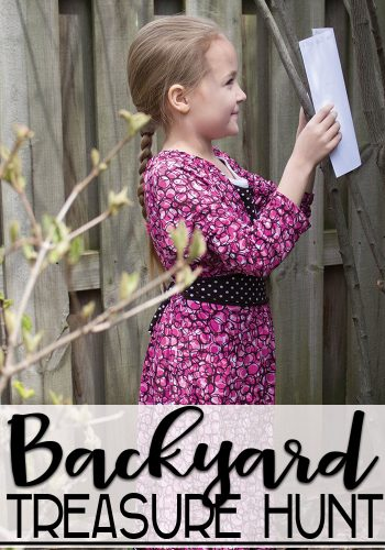 Build map skills with this super fun DIY backyard treasure hunt.