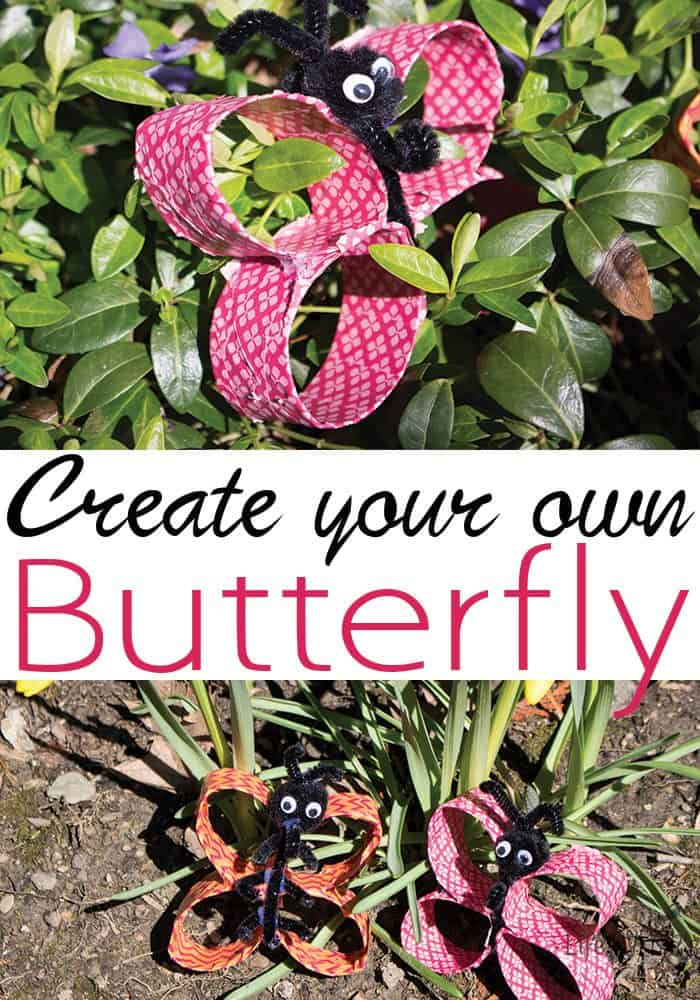 This toilet paper roll butterfly craft is great for kids of all ages. My pre-teens loved it and my preschooler loved it too.