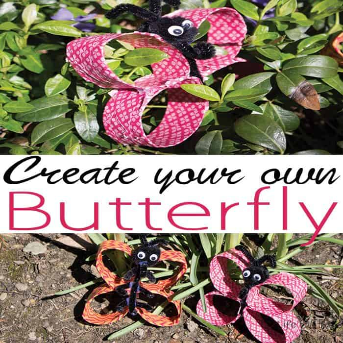 This toilet paper roll butterfly craft is great for kids of all ages. My pre-teens loved it and my preschooler loved it too. Create your own butterflies for a butterfly unit this spring.
