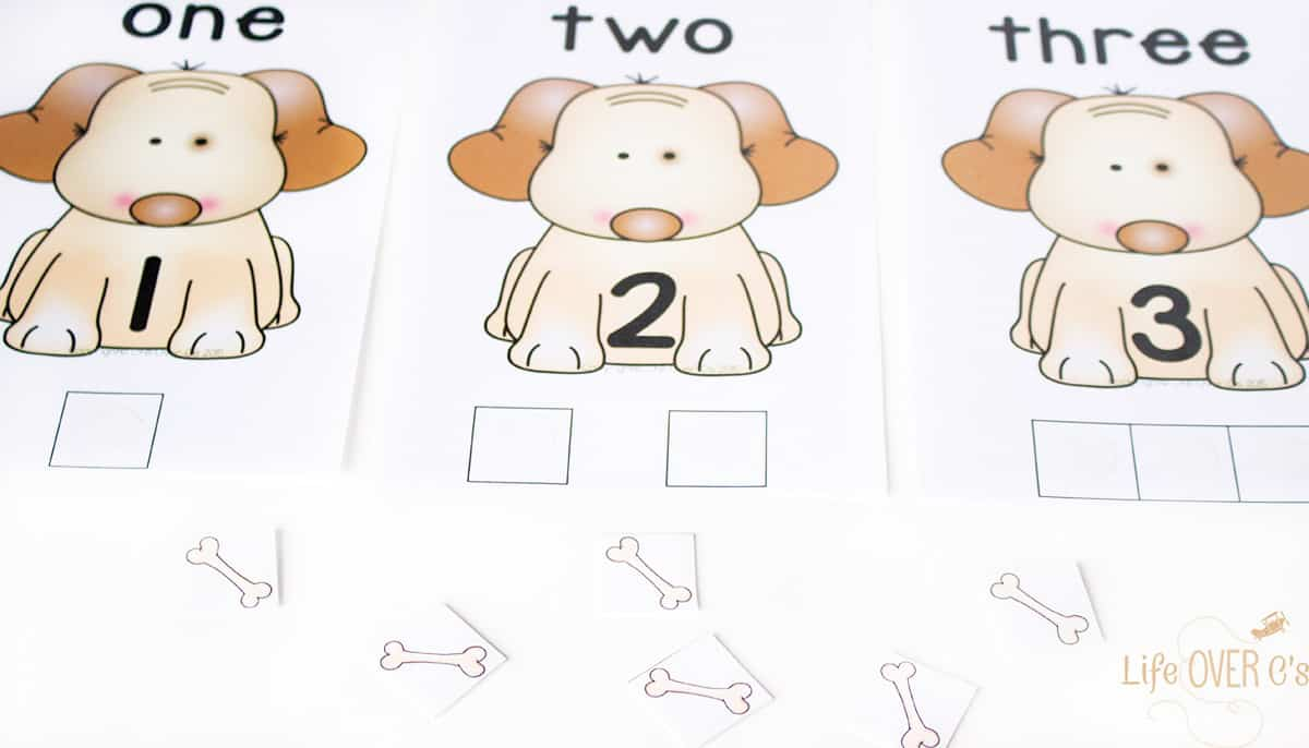 Dog Counting Cards For Numbers 1 5 Life Over Cs