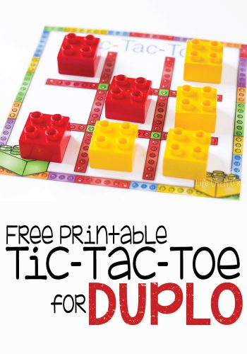 A free printable Tic Tac Toe for DUPLO! What a fun way to play Tic Tac Toe!! My daughter loves DUPLO blocks, so I'm sure she'll love this!