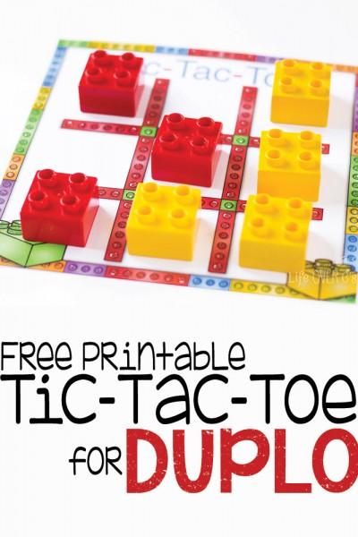 Free Printable Tic Tac Toe for DUPLO