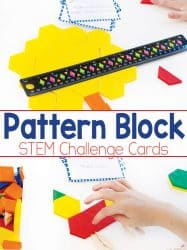 Pattern Block Task Cards Free Printable