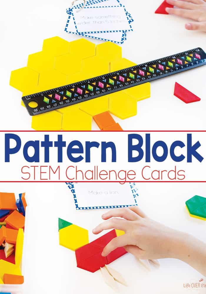 Pattern Block STEM Challenge Cards Free Printable