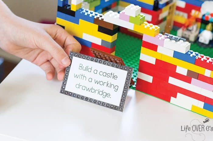 Your kids will love these LEGO STEM challenge cards! The perfect learning activity to get kids interested in learning when they think they are just playing with LEGO!