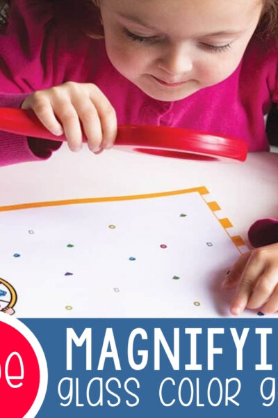 Magnifying Glass Color Game for Preschoolers Featured Square Image