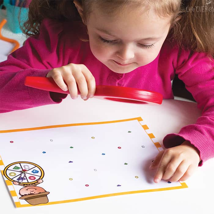Magnifying Glass Color Game for Preschoolers