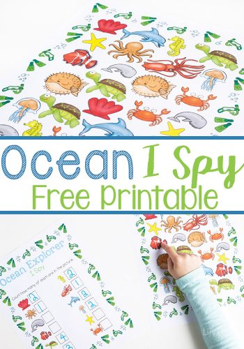 Ocean I Spy Counting Printable for Preschoolers