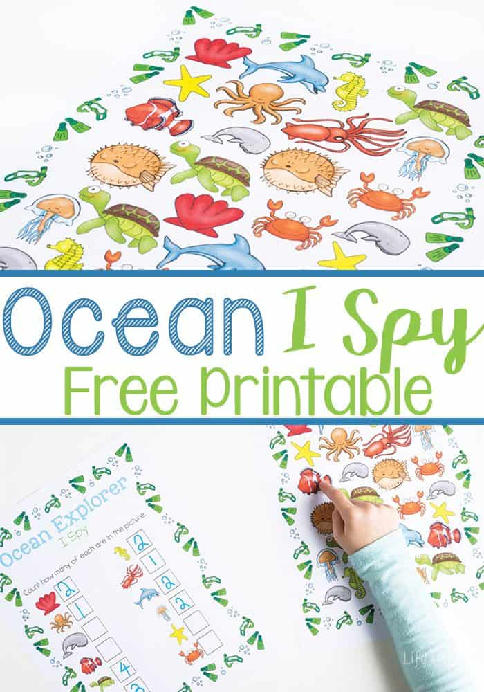 this ocean i spy printable is a perfect counting activity for preschoolers with this free