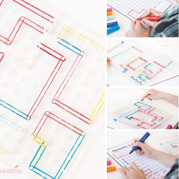 Learning about perimeter and area with geoboards is a great math activity! This customizable perimeter and area printable is perfect for working with irregular shapes.