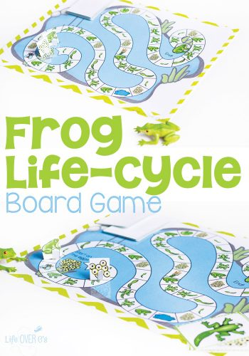 This frog life-cycle board game is a great way to introduce kids to the stages of the frog life cycle. Picture based so it is great for all ages.