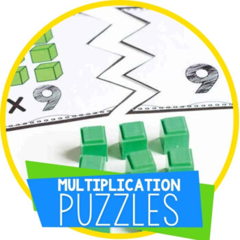Multiplication Puzzles for Multiples of 1-10 Featured Image