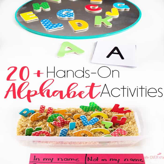 20+ Alphabet Activities Kids Love!