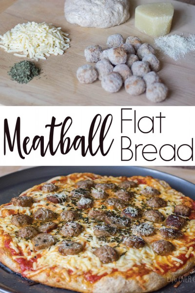 Easy Meatball Flat Bread You Will Love