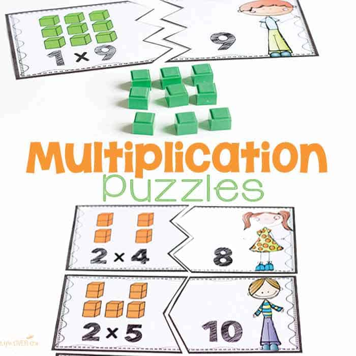 Multiplication Puzzles for Multiples of 1-10