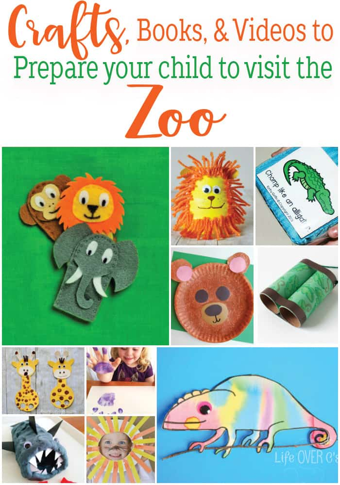 Are you getting ready to visit the zoo? These zoo themed crafts, books and videos will help you prepare your child to visit the zoo.