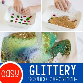 Glitter Science Experiment for Kids Featured Square Image