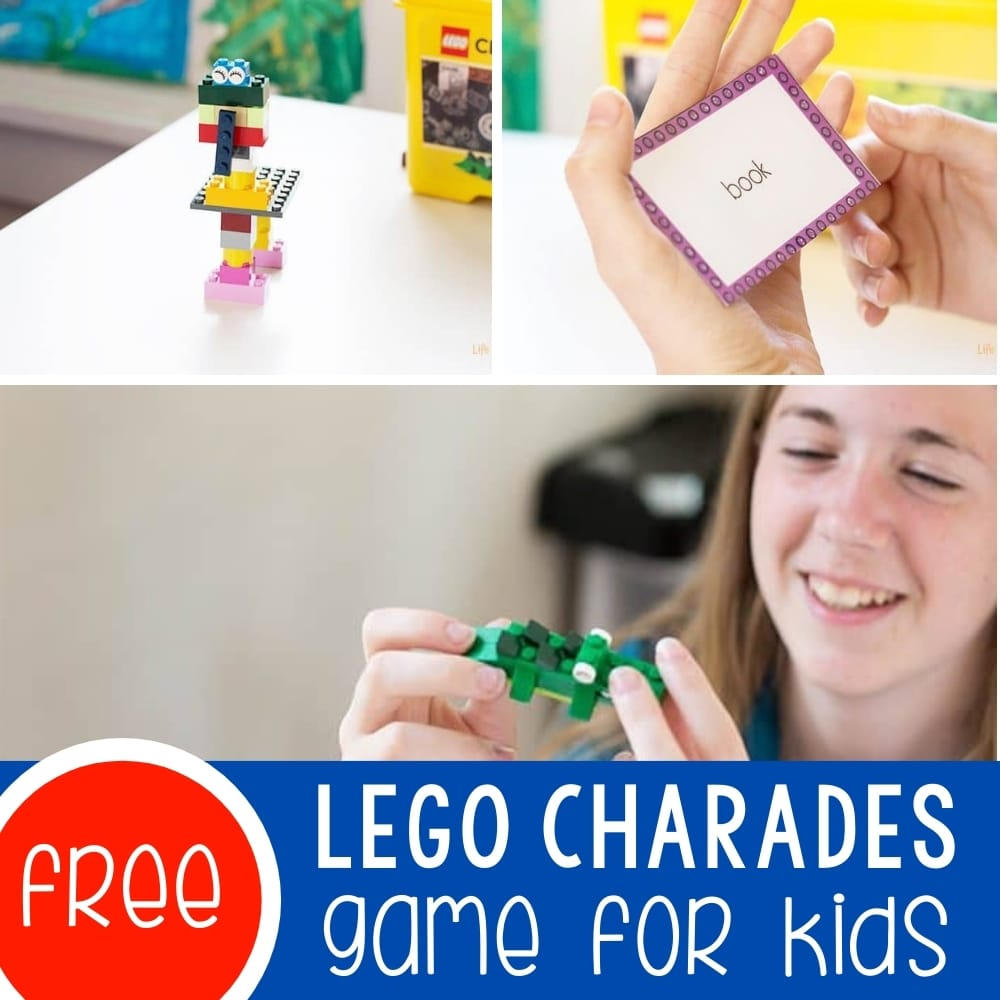 LEGO Charades Game for Kids Featured Square Image