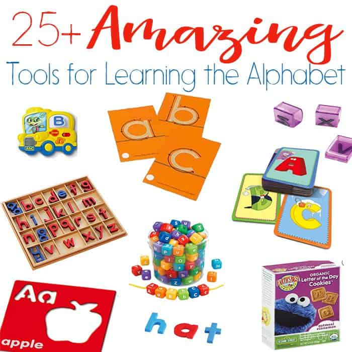 Help your child love to learn with these 25+ amazing alphabet tools! You will love this variety of alphabet manipulatives that can be used for letter recognition, handwriting, spelling and more! The best alphabet resources available!