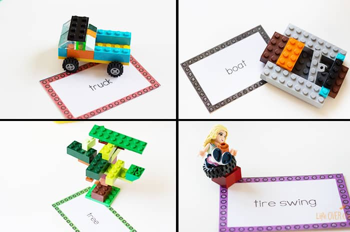 42 LEGO Crafts and Activities for Kids for Endless Fun featured by top US lifestyle blogger, Marcie in Mommyland: LEGO Charades is the perfect family and kid activity for all ages!! Use the free printable cards, build the words on the cards with the LEGO bricks and have everyone guess what is being built! So much fun!