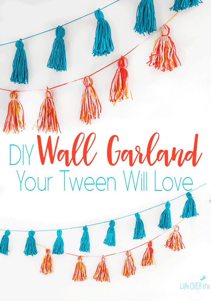 How to make an easy wall garland for your tween