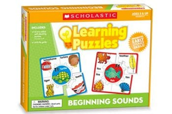 Great puzzles for practicing beginning alphabet sounds!