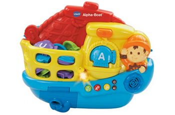 An alphabet toy that you can take in the bathtub! Super cool!