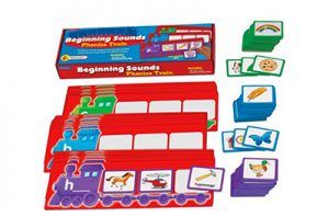 These alphabet trains are perfect! Sorting by beginning sounds is a great way to practice phonics for new readers.